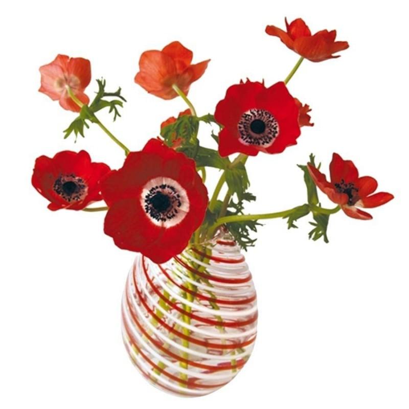 Flat Flowers - Originals Raamstickers Anemone Rood