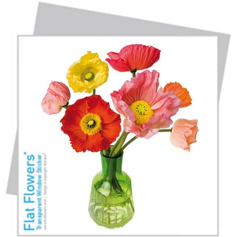 Flat Flower small - Poppy mixed