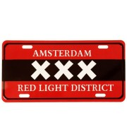 Kentekenplaat Amsterdam XXX Red Light District