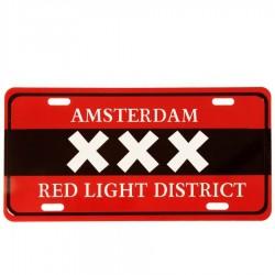 Kentekenplaat Amsterdam XXX Red Light District