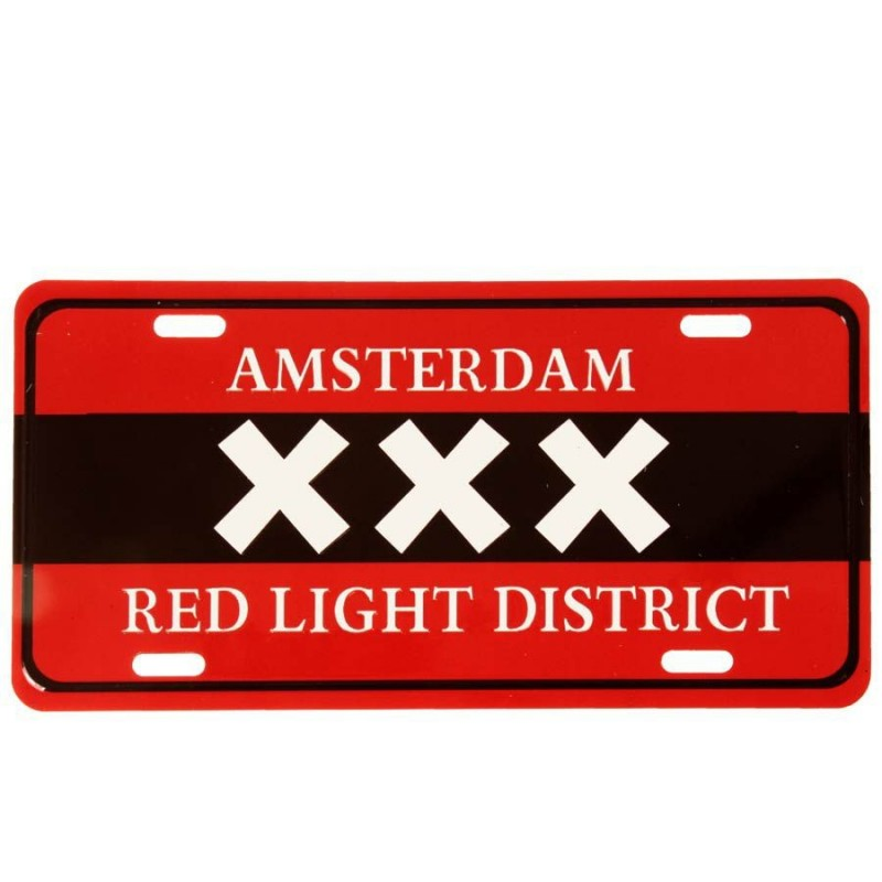 Licence Plates Amsterdam XXX Red Light District