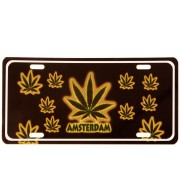 Licence Plates Amsterdam - Cannabis Leaf