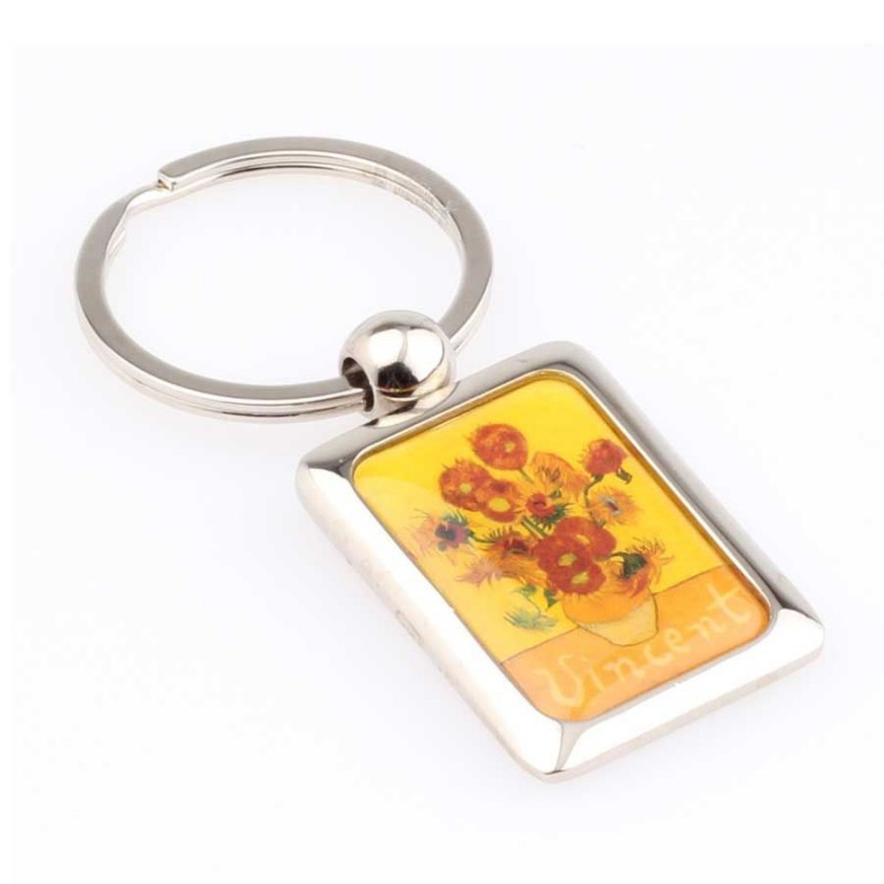 Metal Sunflowers - Vincent Van Gogh - Metal - Keychain