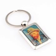 Metaal Zelfportret - Vincent van Gogh - Metaal - Sleutelhanger