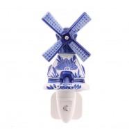 Windmill - Delft Blue - Night Light