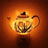 Nachtlampje - Wandlampje Theepot - Delfts Blauw - Nachtlampje