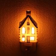 Grachtenhuis Nachtlampje EU-stekker - Delfts Blauw
