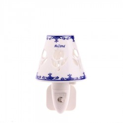 Night Light - Wall Light Tulips - Delft Blue - Night Light