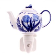 Night Light - Wall Light Teapot - Delft Blue - Night Light