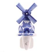Nachtlampje - Wandlampje Molen - Delfts Blauw - Nachtlampje