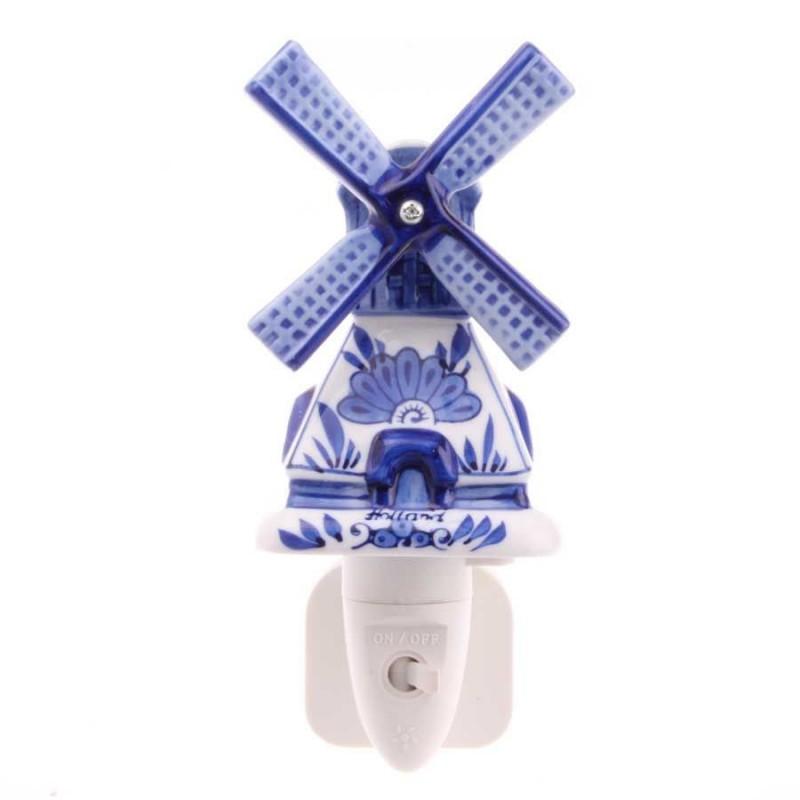 Molen - Delfts Blauw - Nachtlampje