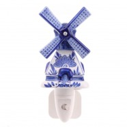 Night Light - Wall Light Windmill - Delft Blue - Night Light