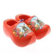 Decoration Orange Tulip - 14 cm Wooden Shoes