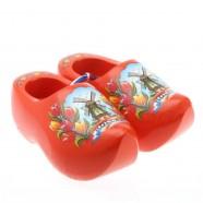 Orange Tulip - 14 cm Wooden Shoes
