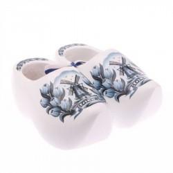 Decoratie Delfts Blauw Tulp - 14 cm Klompenpaar