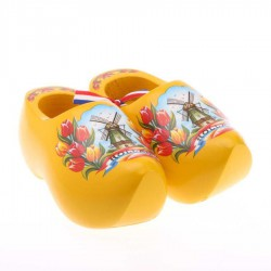 Yellow Tulip - 14 cm Wooden Shoes