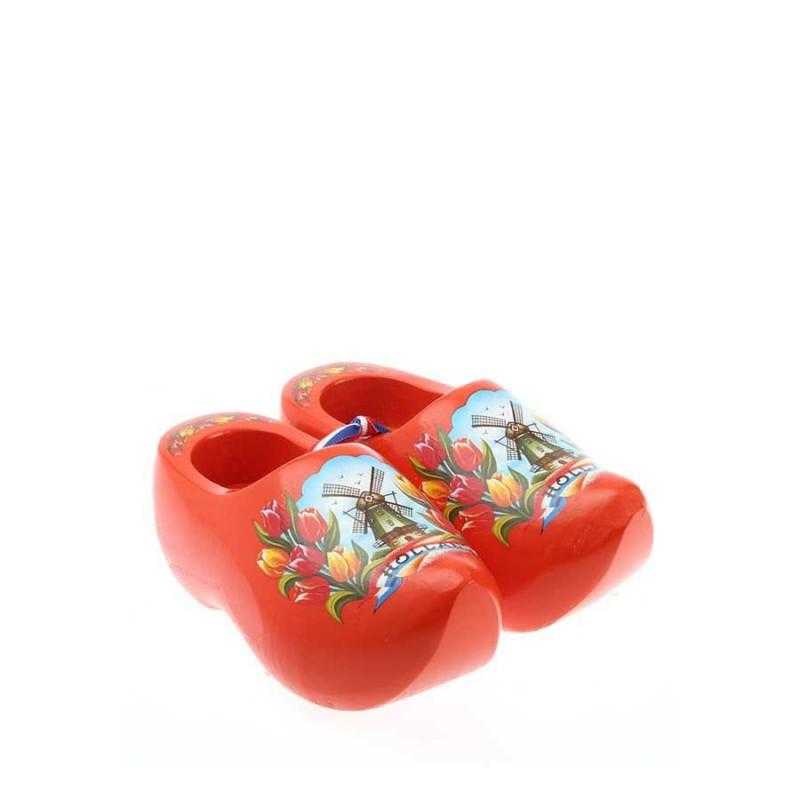 Decoration Orange Tulip - 8 cm Wooden Shoes
