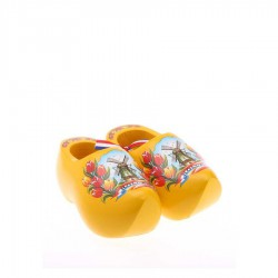 Yellow Tulip - 8 cm Wooden Shoes