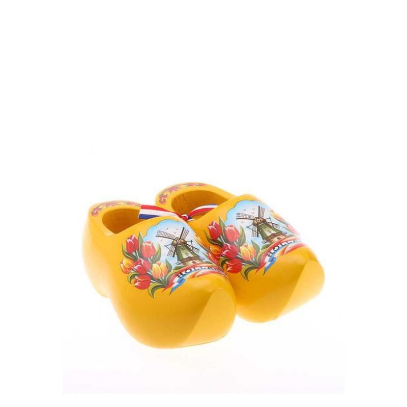 Decoration Yellow Tulip - 8 cm Wooden Shoes