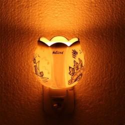 Nachtlampje - Wandlampje Tulp - Delfts Blauw - Nachtlampje