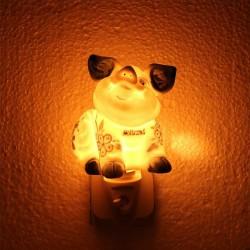 Nachtlampje - Wandlampje Varkentje - Delfts Blauw - Nachtlampje