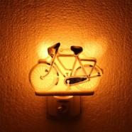 Nachtlampje - Wandlampje Fiets  - Delfts Blauw - Nachtlampje