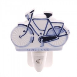 Night Light - Wall Light Bicycle - Delft Blue - Night Light