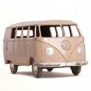 Wall Stickers - Wanted Wheels - Flat Flowers Volkswagen Minibus - Wall Sticker