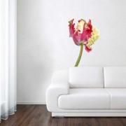 Muurstickers - Wanted Wheels - Flat Flowers Tulp Papagaai - Muursticker