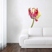 Wall Stickers - Wanted Wheels - Flat Flowers Tulip Parrot - Wall Sticker