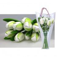 White - Bunch Wooden Tulips