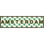 Car Bumper Stickers Amsterdam Cannabis Leaves