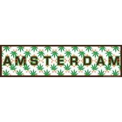 Amsterdam Cannabis Blad - Bumper Sticker