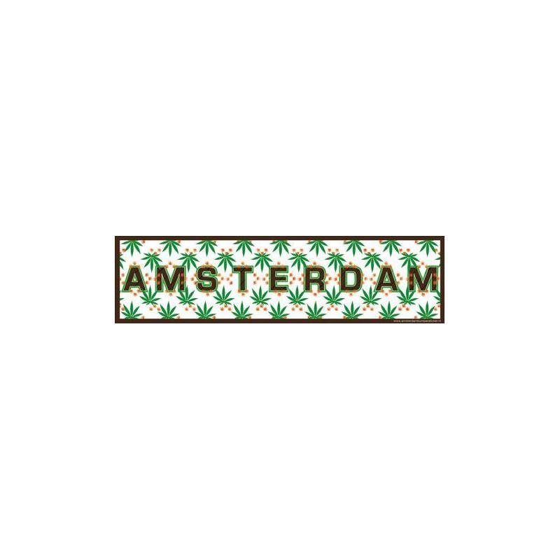 Auto Bumper Stickers Amsterdam Cannabis Blad