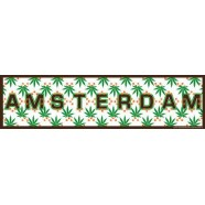 Amsterdam Cannabis Leaves - Bumper Sticker