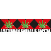 Auto Bumper Stickers Amsterdam Cannabis Capital