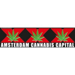 Amsterdam Cannabis Capital - Bumper Sticker