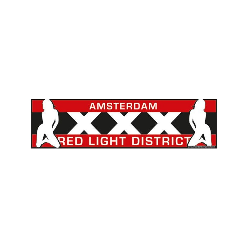 Auto Bumper Stickers Amsterdam Red Light District