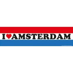 Auto Bumper Stickers I love Amsterdam