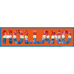 Auto Bumper Stickers Holland bloemen