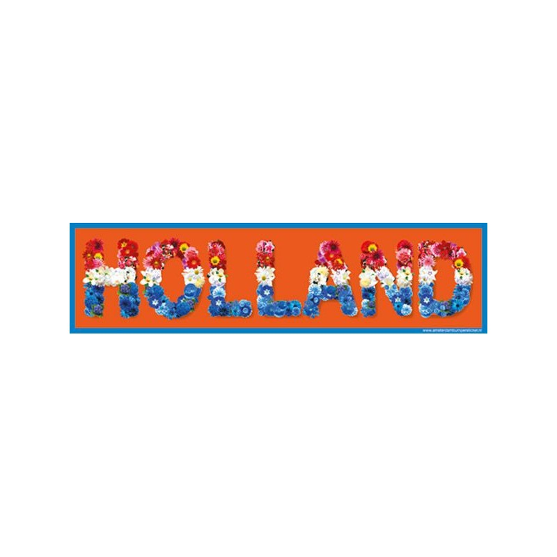Car Bumper Stickers Holland flowers