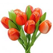 Houten Tulpen Oranje - Boeket Houten Tulpen