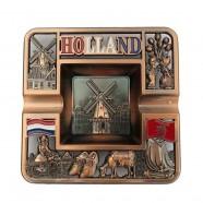 Vierkant Holland - Koperen Asbak