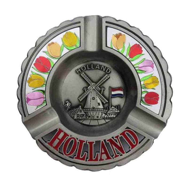 Rond Holland Tulpen - Tinnen Asbak