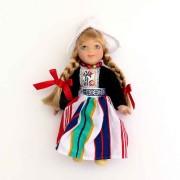Poppen  Vrouw - 13 cm - Zwart Traditionele Hollandse Klederdracht