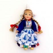 Poppen  Vrouw - 13 cm - DB Traditionele Hollandse Klederdracht