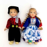 Dolls  Couple - 13cm - Delft Traditional Holland Costume