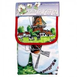 Kitchen textiles  Kitchen Set - Windmill Cows