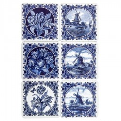 Coasters - Delft Blue • Souvenirs from Holland