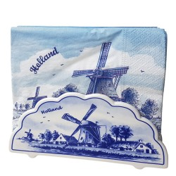 Napkins and holders - Delft Blue • Souvenirs from Holland